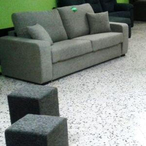 Colchonería Losada Sofa Gris Claro