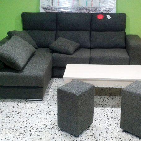 Colchonería Losada Sofa Gris Con Mesa Blanca